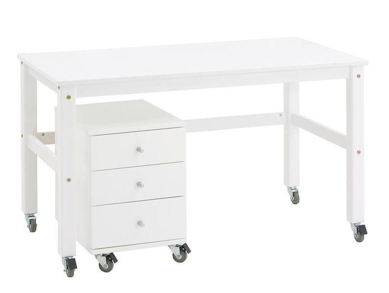 Escritorio joans con ruedas camas y literas - Mesa escritorio con ruedas ...