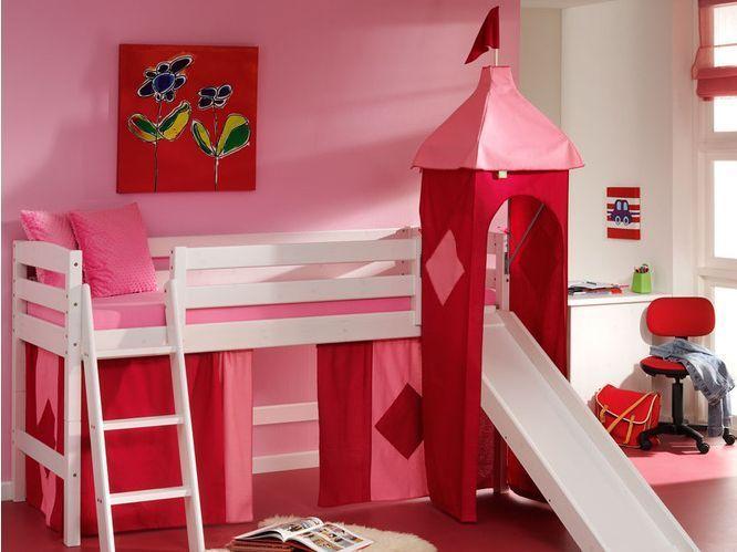 Cama semi alta fredy con tobogan camas y literas - Camas infantiles con tobogan ...