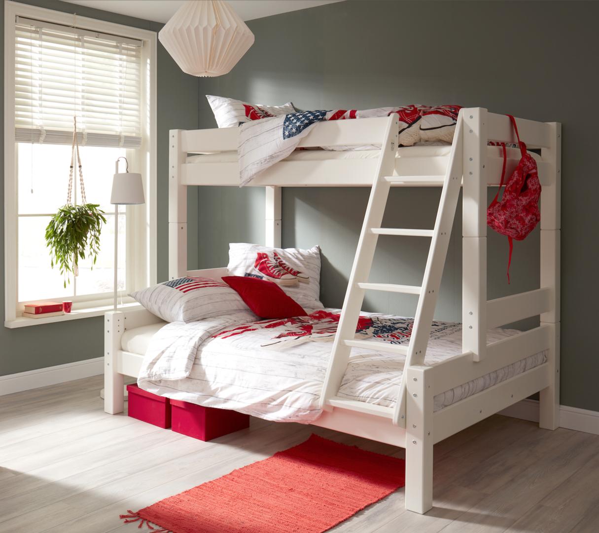 Litera para tres valencia camas y literas - Literas lacadas en blanco ...