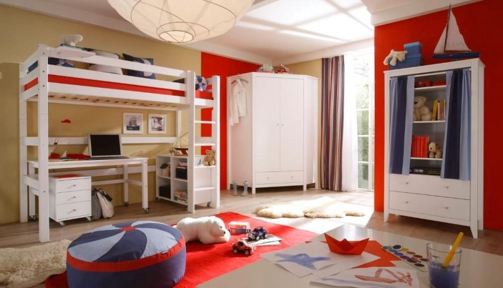 Cama alta iker escalera recta camas y literas - Escaleras para camas altas ...