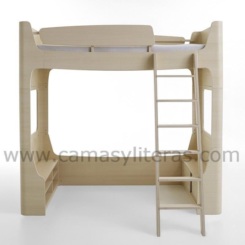 Cama alta sofia escalera en el lado derecho camas y - Escaleras para camas altas ...