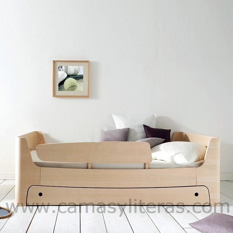Cama individual 90 x 190 con caj n camas y literas for Cama 90 x 200