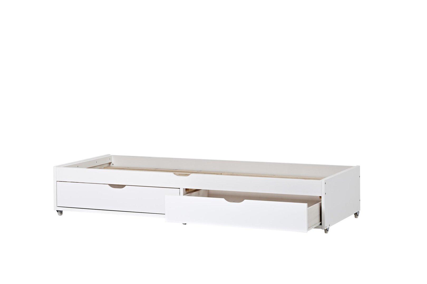 Noah deluxe a5 1 con cama nido y cajones camas y literas for Cama nido con dos camas y cajones