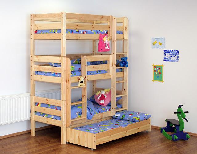 Sasha triple camas y literas - Literas tres camas ...