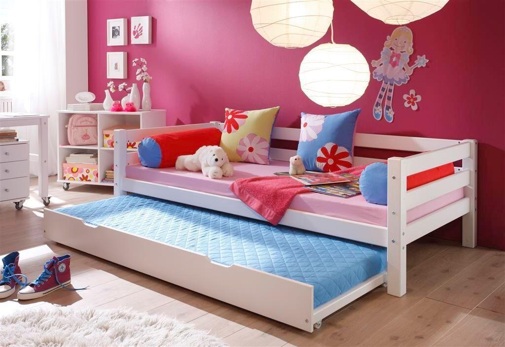 Cama individual con cama supletoria camas y literas for Cama individual precio