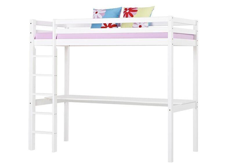 Cama alta kai con escritorio camas y literas Estructura cama 90x200