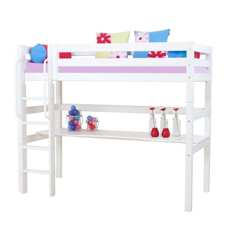 cama alta iker escalera recta camas y literas. Black Bedroom Furniture Sets. Home Design Ideas