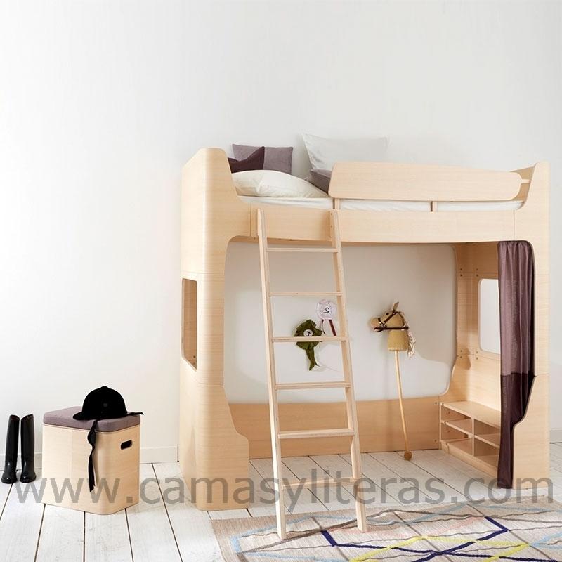 Cama alta sofia escalera en el lado izquierdo camas y - Escaleras para camas altas ...