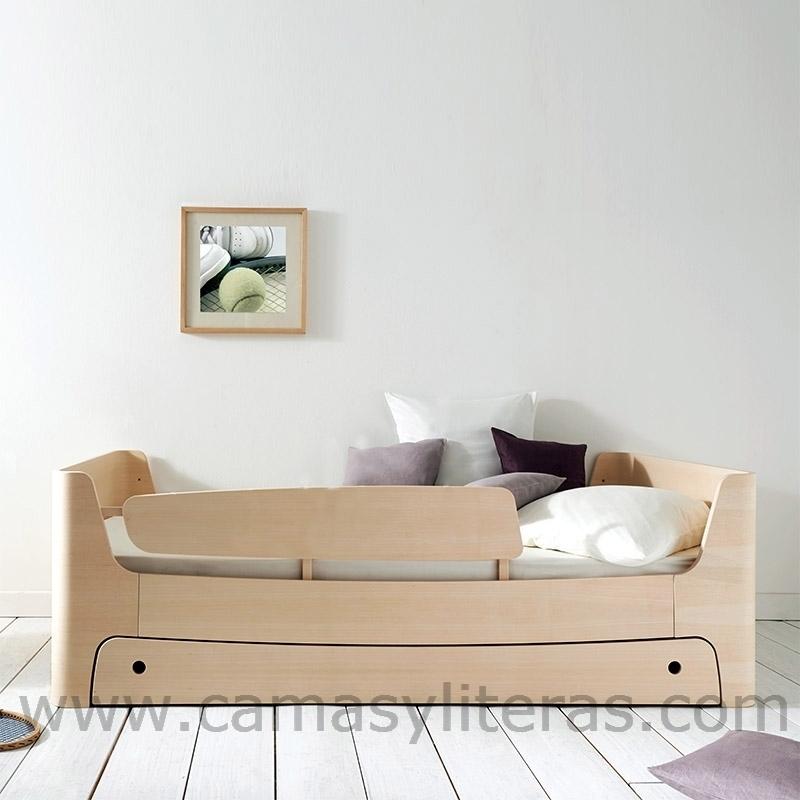 Cama individual 90 x 190 con caj n camas y literas - Cama de 90 con cajones ...