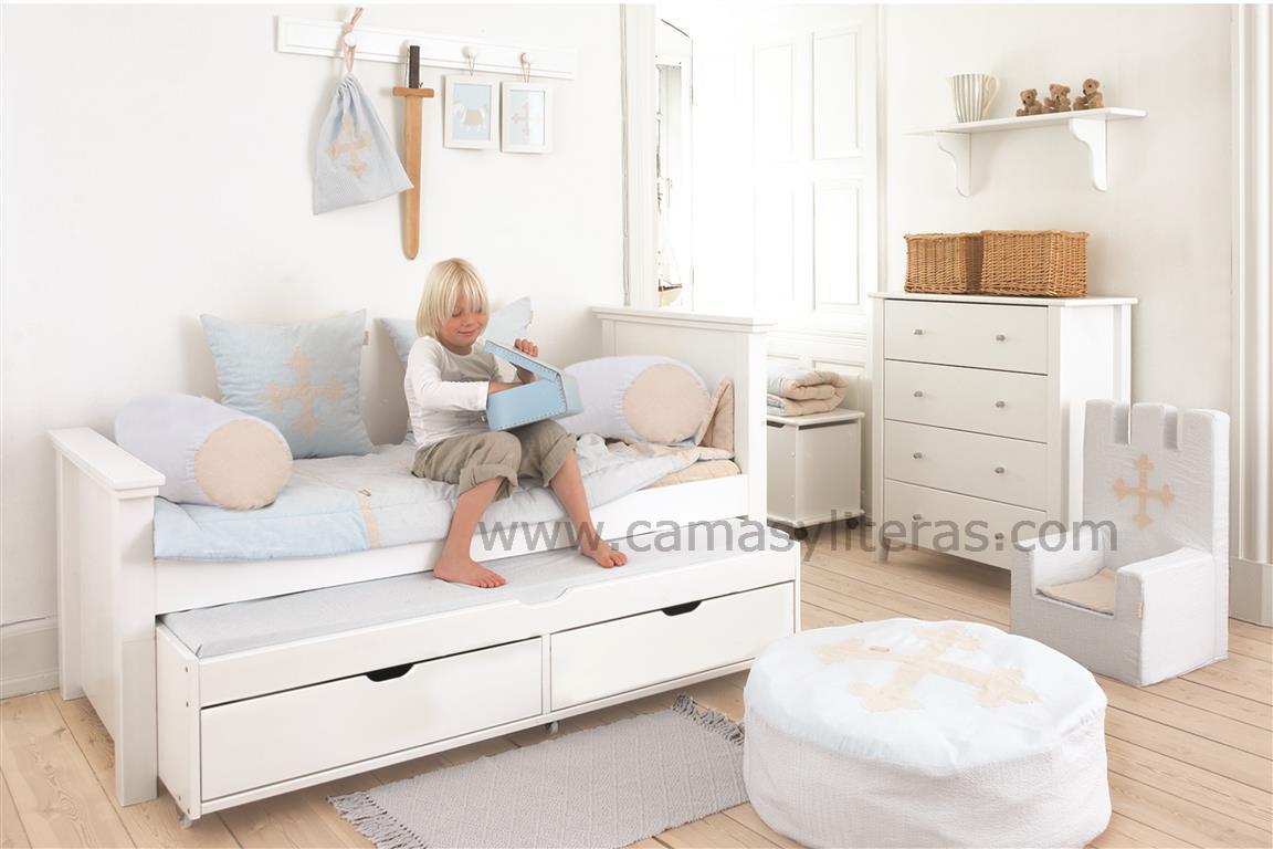Maya deluxe a3 1 con cama nido y cajones camas y literas - Camas infantiles con cajones ...