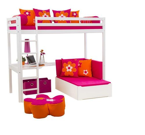 CAMA ALTA SIMBA + SILLON EXTENSIBLE COLOR ROSA
